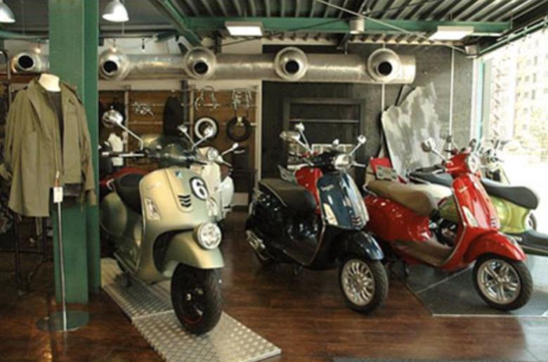 ベスパ市川の店内モデルルーム