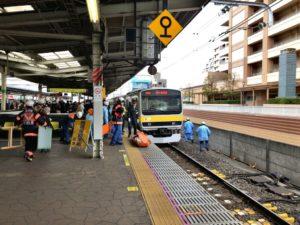 人身事故にあった電車