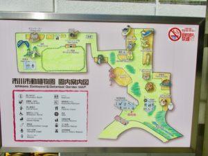 市川市動植物園の案内図