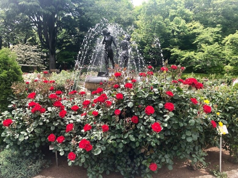 里見公園の噴水