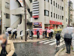 蒙古タンメン中本(市川店)のオープン日の行列