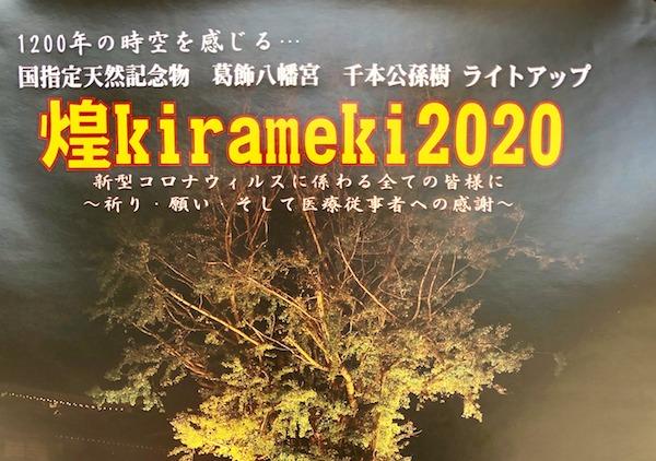 葛飾八幡宮の煌Kirameki2020
