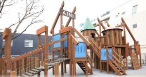 あい・あい保育園で取り入れられている大型遊具AINI