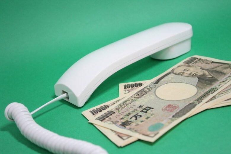 日本紙幣と電話